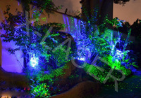 Green&Blue landscape laser light/ yard lighting/water-proof laser light