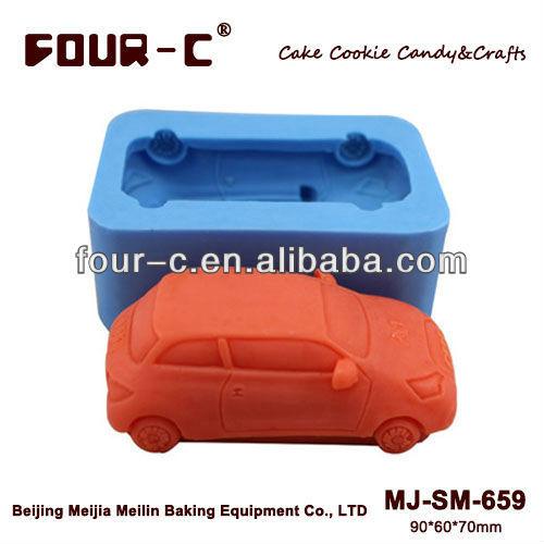 Free shipping silicone car design chocolate decorating mould,3D cake mould,chocolate decoration(China (Mainland))