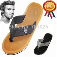 drop free shipping Beckham men casual summer flip flops shoes bakham outdoor sandals male slippers