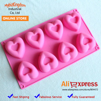 Brand New Set of 2 Food Grade Heart Silicone Cookie Chocolate Baking Molds Bakeware