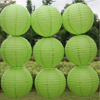 Free shipping 10pcs/lot 12''(30cm) Round paper lantern Friut green paper lanterns lamp festival wedding decoration party lantern