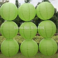 Free shipping 10pcs/lot 12''(30cm) Round paper lantern Friut green paper lanterns lamp festival wedding decoration party lantern