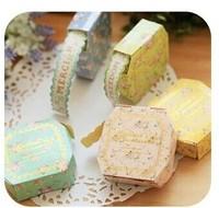Free shipping 10pcs/lot Romantic Printing countyside lace washi decoration adhesive tape stationery for notebook masking tape