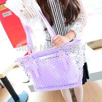 Transparent bags 2014 female summer candy color crystal beach bag summer women's handbag shoulder bag jelly bag