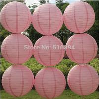 Free shipping 10pcs/lot 12'' 30cm Round paper lantern Peach pink paper lanterns lamps festival wedding decoration party lantern