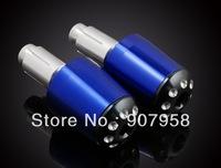 "Motorcycle Blue Universal Aluminum CNC Handlebar Grips Billet Bar Ends Barends 7/8""(22mm)"