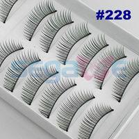 1Box/10Pairs C Curl Voluminous Thick False Eyelashes Mink Eyelash Lashes Voluminous Makeup For Party Daily #228