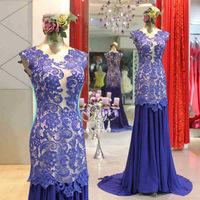 Real image V-neck Lace  Pleat  Fashion New Sexy  2014 Evening woman dresses Gowns prom gowns celebrity dresses custom made 2015