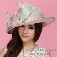 Free Shipping Women Hats Hats for Women Sinamay Hat Sinamay Bow Women Sun-Shading Fashion Summer Sun Hat