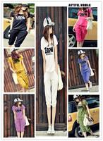 Women Sport suit Casual clothes 2pcs set 2013 New arrival MOQ 1PC More colors Tracksuit Ladies Costume