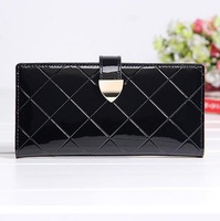 2014 new women leather wallet wholesale lovely version mirror surface wallet fashion women leather bag hasp burse card bag hot