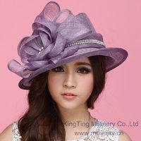 Free Shipping Women Dress Hat Hats for Women Sinamay Hat  Sun-Shading Fashion Summer Sun Hat  Sinamay Rose