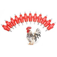 360 Angle Poultry Supplies Water Cups Nipple /Poultry Waterer Feeders for Chicken (50pcs)