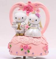 360 degree rotate wedding gift hello kitty carousel sankyo music box free shipping