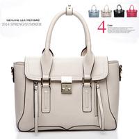 2014 Women Leather Handbags women shoulder bag women messenger bags famous Brands women handbag genuine leather clutch bags tote