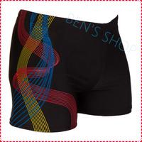 2014 Hot sale New Geometric Polyester Masculino Sunga Men Swimming Trunks Quality Spandex Swimwear Bermuda for free Shipping