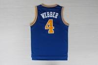 Thailand top USA Golden State #4 Chris Webber cheap high grade mesh retro throwback men basketball  jerseys