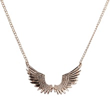 Fahion Design Chain Vividly Wing Shape Pendant Unisex Necklace Jewelry Gift