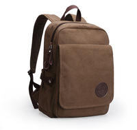 100% COTTON Men's leisure Vintage Canvas Backpack male Rucksack Man Satchel Shoulder School bag for men