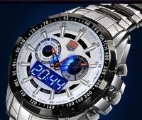 TVG 2014 Sports men full steel Quartz military Watch city Hunter LED Pointer 30AM Waterproof men wristwatch