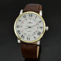 Winner Luxury Watches For Men Leather Black Watch Clock Men Automatic Mechanical Skeleton Wristwatch Men's Watch