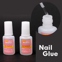 5pcs/lot Nail Art with Brush Nail Glue UV Gel False Tip Acrylic UV 10g