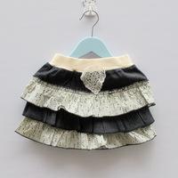 new 2014 girls skirts short bull-puncher skirt jeans small skirt for baby free shipping