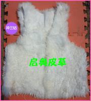 2014 new Hot sale free shipping  long wool vest liner caracule liner wool tube fur leather vest male Women