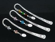 "Fashion 3 Bookmarks W/Crystal ""Believe"" Dangle Bead 123mm(China (Mainland))"