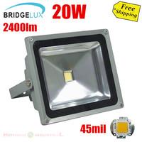 Wholesale 20PCS 20w Bridgelux Led flood light Lamps Solar IP65 85-265V 3 years Warranty
