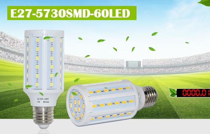 10W 5730 5630 SMD High Power E27 LED Wall lamps AC 220V Corn LED Bulb Pendant lights 60LEDs Chandeliers Ceiling light(China (Mainland))