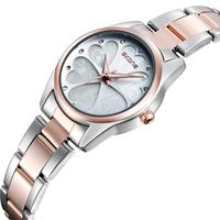 Women Fashion Watch Style Watch Stainless Steel Strap Japan Quartz Movement Analog Display Women's Wristwatch