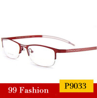 2014 NEW ARRIVING Designer Fashion Pure Titanium P9033 Half Spectacle Frame Women Glasses Frames Ultralight Free Shipping