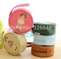 Han edition creative doll girl circular cortical change purse Package hand bags