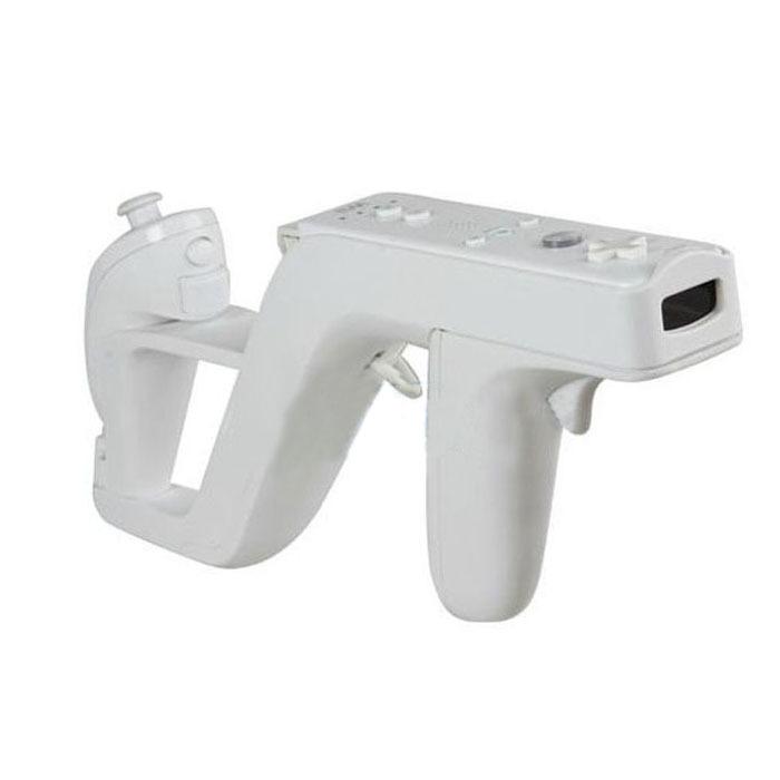 Заппер пистолет для контроллера Wii Remote игры белый Jecksion