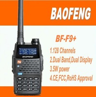 DHL free shipping+2014 Newest 5W 128 channels dual band Two way radio vhf/uhf  walkie talkie UVF9 baofeng f9+