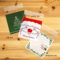 christmas gift bags cake bags christmas self-adhesive bags gift packaging bag