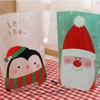 50pcs/lot Christmas hooded little penguin vertical gift West bag packaging bag