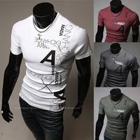 HOT Sales ! Free Shipping 2014 mens t shirt Men's Fashion Short Sleeve Tee T Shirts,4 Colors,O-Neck, Good Quality, Drop Shippin