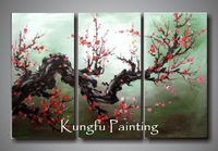 3-4003 100% Hand-painted unframed good quality large abstract modern tree art landscape painting for home decoration
