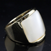 High Quality 18 K Gold Plated Fashion Big Opal Rings For Men