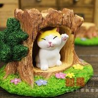 Zakka small animal resin craft decoration home decoration birthday gift cat toys set