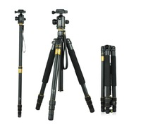 Pro Al-Mg Alloy Tripod w/ Monopod & Ball Head for All Cameras and Video Camera