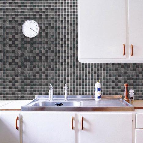 Brand classic mosaic sticker bathroom 50cm 50cm toilet - Autocollant faience cuisine ...