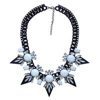 2014 NEW  fashion chunky chain vintage  necklace & pendant bib bubble design pendant choker chunky statement necklace wholesale