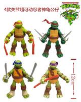 High quality 4pcs/set Classics anime Teenage mutant ninja turtles TMNT action figure toys 4.7inch for child gift