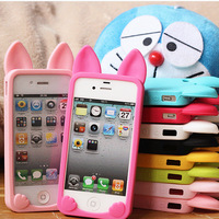 For apple iphone 5 5S Koko Cat Silicon Case Silicone phone cover cute soft 3D cartoon cheap silicone phone case