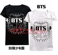 BTS bulletproof Cadet Bangtan Boys SUGA JIMIN JIN V t shirt long-sleeved T-shirt B