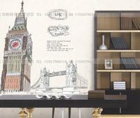 New Home Fashion Wall Clock London Big Ben Wall Decal Sticker Decor Real Clock
