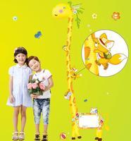 Large 1.8m Removable giraffe Height Wall Sticker Option1 nursery room baby kid
